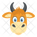 Cow Domestic Animal Icon
