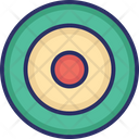 Bulls Eye Dartboard Goal Icon