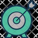 Bullseye Company Objective Board Dart Board Icon