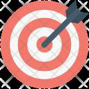 Bullseye Arrow Dartboard Icon