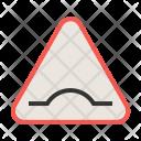 Bump Ahead Sign Icon