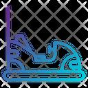 Amusement Park Bumper Car Entertainment Icon
