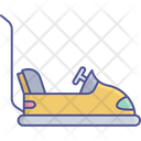 Kids Bumper Car Amusement Park Bumper Car Icon