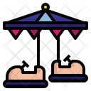 Bumper Car Amusement Park Fun Icon