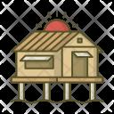 Bungalow House Villa Icon