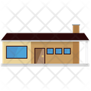 Bungalow House Smalltown Icon