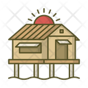 Bungalow House Villa Icon