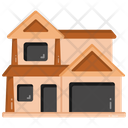 Lodge Bungalow Mansion Icon