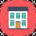 Bungalow Duplex House Icon
