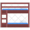 Bunk Bed Furniture Icon
