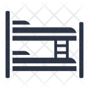 Bunk Bed Beds Dormitory Icon