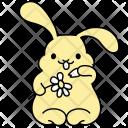 Bunny Flower Rabbit Icon