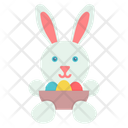 Egg Rabbit Easter Icon