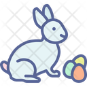 Egg Rabbit Paschal Icon