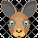 Brown Bunny Face Icon