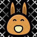 Bunny Face Cartoon Icon