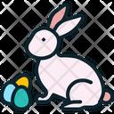 Rabbit Easter Eggs Icon