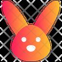 Hare Bunny Rabbit Face Icon