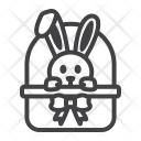 Easter Bunny Basket Icon