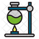 Bunsen Burner Experiment Laboratory Icon