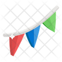 Buntings Pennants Party Flags Icon