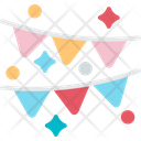 Decoration Bunting Flags Icon