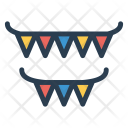 Bunting Flags Decoration Icon