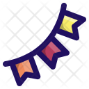 Bunting Party Flag Icon