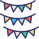 Party Decoration Party Flags Pennants Icon