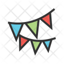 Party Decoration Bunting Icon