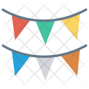 Bunting Decoration Party Icon