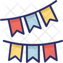 Buntings Party Decoration Party Flags Icon