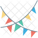 Buntings Party Decoration Icon