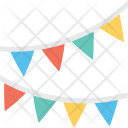 Buntings Pennants Party Icon