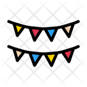 Buntings Party Marriage Icon