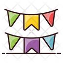 Buntings Party Flag Garlands Icon