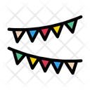 Buntings Party Celebration Icon