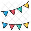 Buntings Garlands Decoration Icon