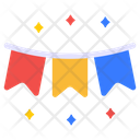 Buntings Party Flags Garlands Icon