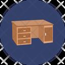 Bureau Furniture Side Table Icon