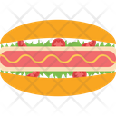 Hotdog Burger Hotdog Sandwich Sausage Icon