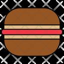 Bun Burger Fast Food Icon