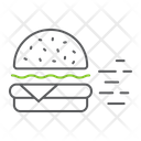 Burger Delivery Express Icon