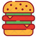 Burger Hamburger Junk Food Icon