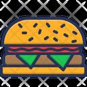 Burger Breakfast Fast Food Icon