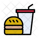Burger Fastfood Drink Icon