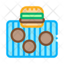 Bbq Meat Burger Icon