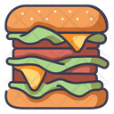 Meat Hamburger Burger Icon