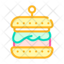 Hamburger Vegan Cutlet Icon