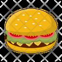 Burger Fastfood Bread Icon
